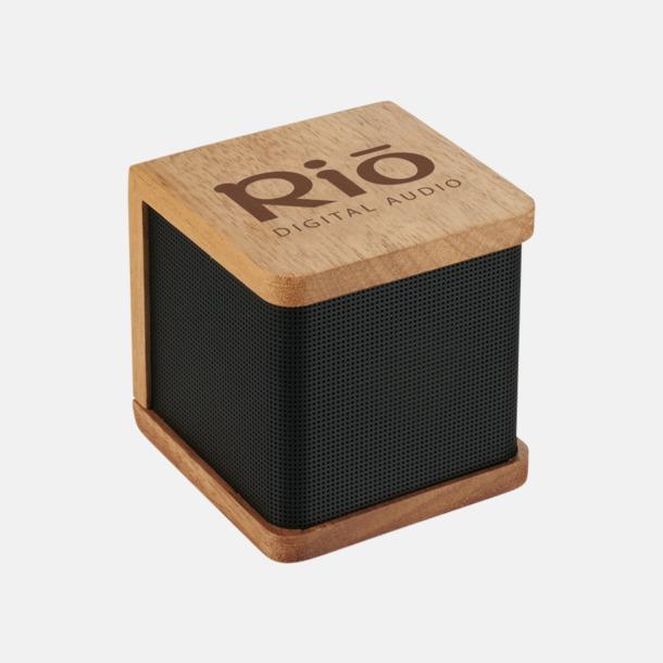 Med reklamlogo Bluetooth-högtalare i trä med reklamlogo