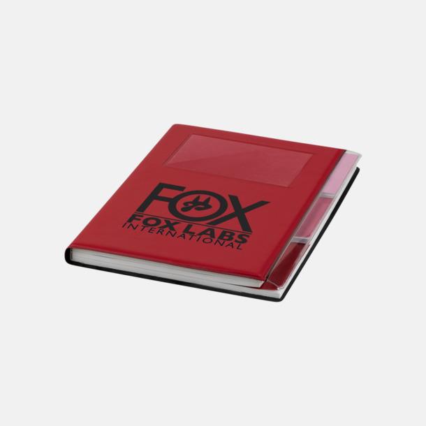 Med reklamlogo Anteckningsböcker med foldrar med reklamtryck
