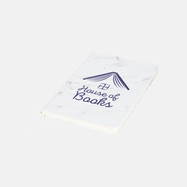 Med reklamlogo Marmormönstrade anteckningsböcker med reklamtryck