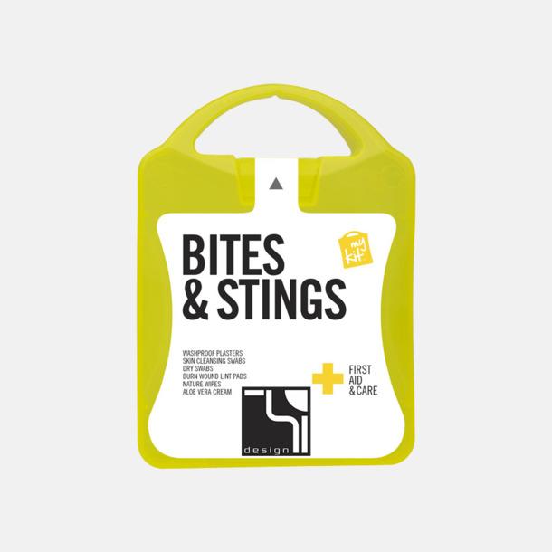 Med reklamlogo Första hjälpen-kit vid insektsbett med reklamtryck