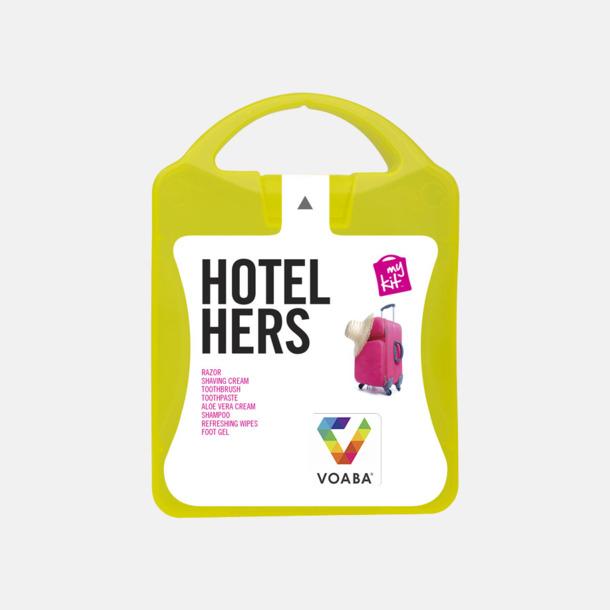 Med reklamlogo Feminint hotellkit med reklamtryck