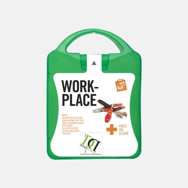 Med reklamlogo Första hjälpen kit for arbetsplatser - med reklamtryck