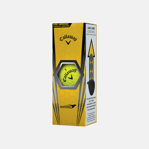 Ask (gul boll) Billiga Callaway-logobollar med reklamtryck
