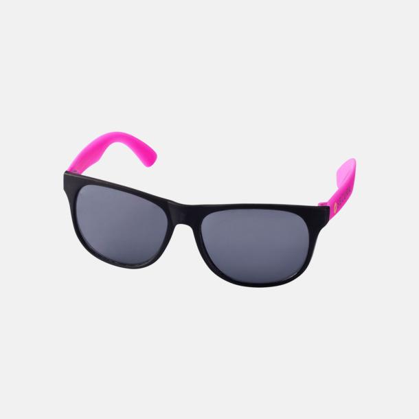 Med reklamlogo Klassiska solglasögon med bågar i kontrasterande färg - med reklamtryck