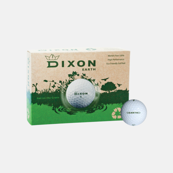 Vit boll Dixon Earth - Logobollar med tryck