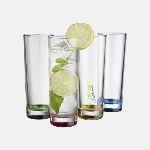 Med tampotryck Set med 4 glas - med reklamtryck