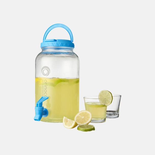 Med reklamlogo Kranförsedd karaff i set med glas - med reklamtryck