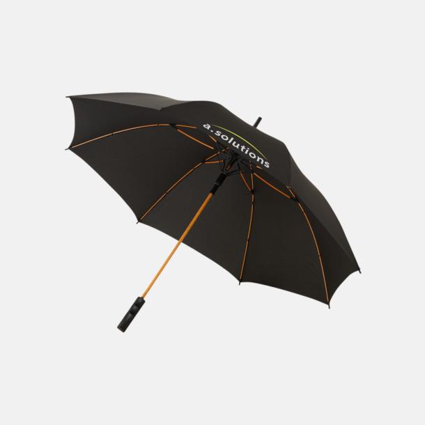 Med reklamlogo Färgade stormparaplyer med reklamtryck