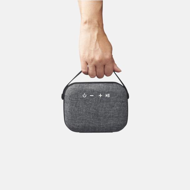Klädda högtalare med handtag med eget reklamtryck