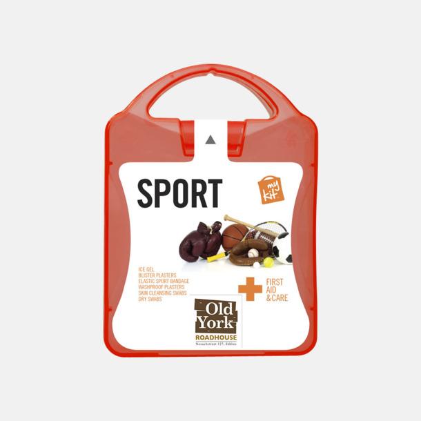 Med reklamlogo Första hjälpen-sportutgåva med reklamtryck