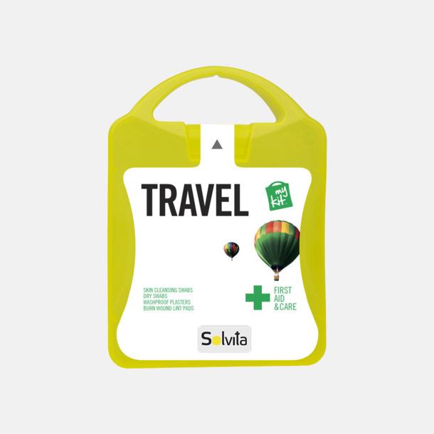 Med reklamlogo Första hjälpen-kit för resan - med reklamtryck