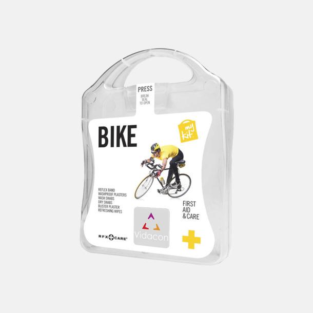 Med reklamlogo Första hjälpen-plåster för cyklisten - med reklamtryck