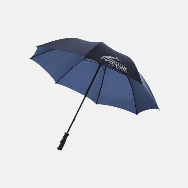 Med reklamlogo Stora, automatiska paraplyer med reklamtryck