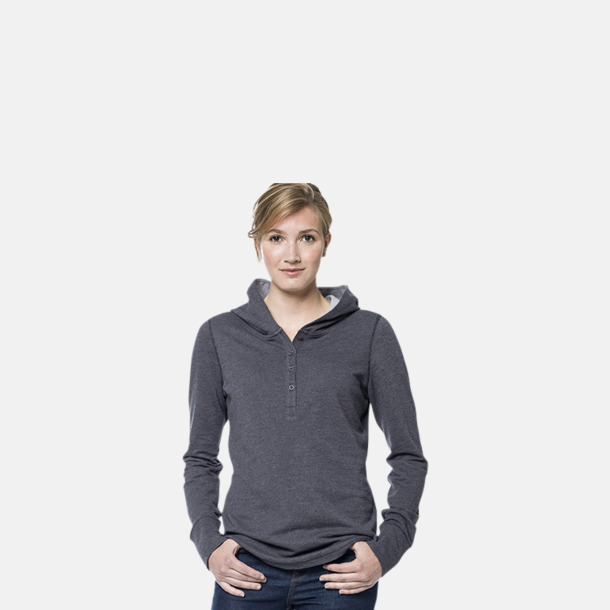 Knappförsedda huvtröjor med reklamtryck