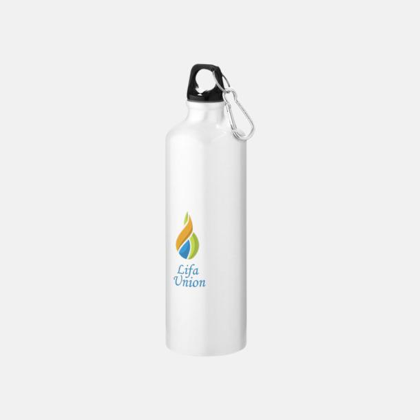 Tampotryck Större sportflaskor med karbinhake - med reklamtryck
