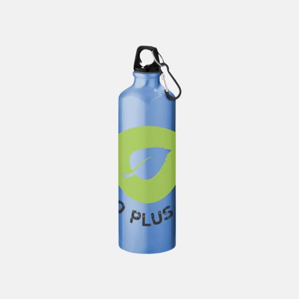 Screenround Större sportflaskor med karbinhake - med reklamtryck
