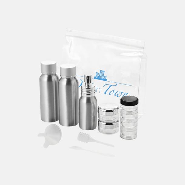 Med reklamlogo Reseflask set i aluminium med reklamtryck