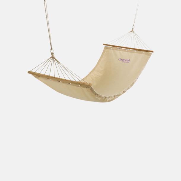 Med reklamlogo Naturfärgade bomulls hängmattor med reklamtryck