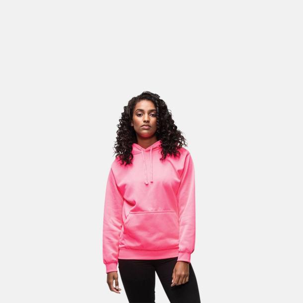Huvtröjor i neonfärger med reklamtryck