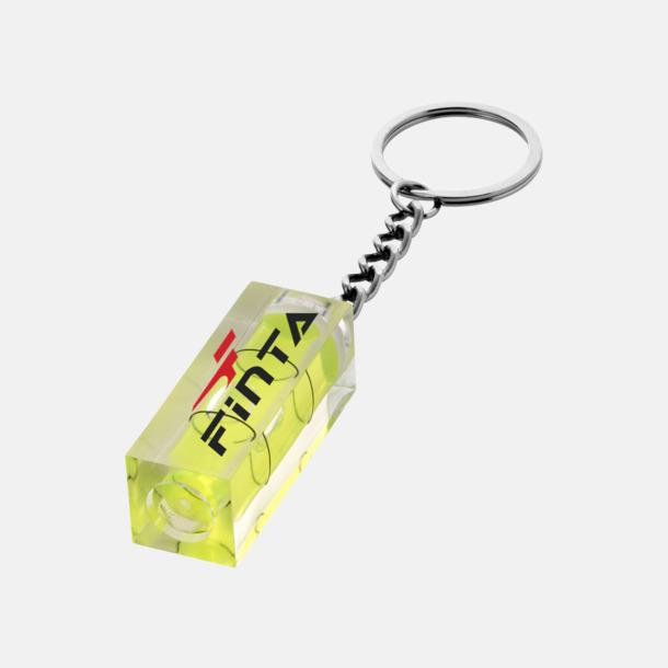 Med reklamlogo Nyckelring och vattenpass med eget tryck