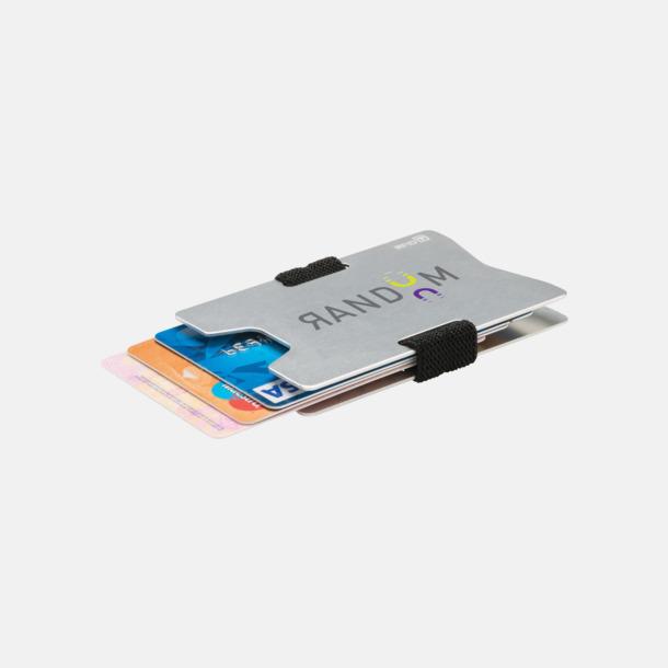 Med reklamlogo Korthållare i aluminium med RFID-skydd med reklamtryck