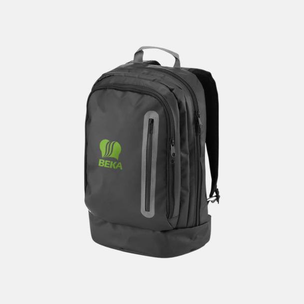 """Med reklamlogo 15,4"""" svargrå ryggsäckar med reklamtryck"""