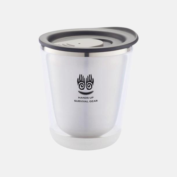 Med reklamlogo Isolerade kaffemuggar med lock - med reklamtryck