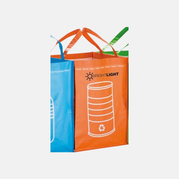 Med reklamlogo PVC-fria återvinningskassar med reklamtryck