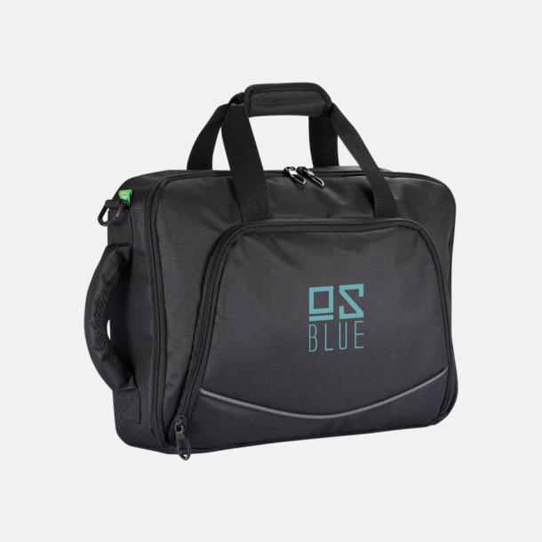 Med reklamlogo Laptop axelväska och -ryggsäck i ett med reklamtryck