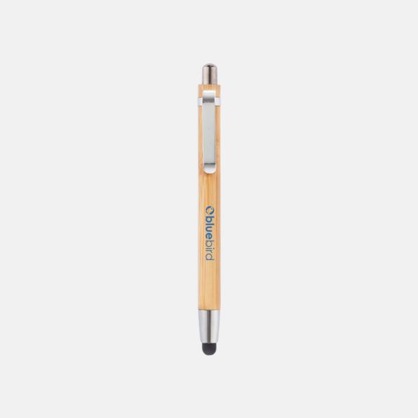 Med reklamlogo Touchpennor i eko-bambu med reklamlogo