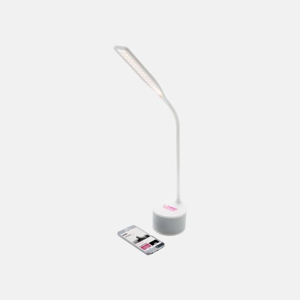 Med reklamlogo Lampa, högtalare & laddare med reklamtryck