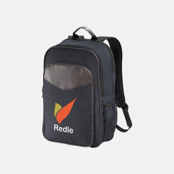 Med reklamlogo Retro laptopryggsäckar med reklamtryck