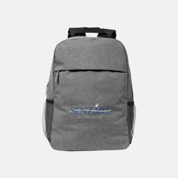 Med reklamlogo Heather mönstrad ryggsäck med reklamtryck