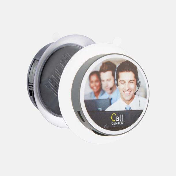 Med reklamlogo Solcellsladdare med inbyggd USB-portal att fästa på fönstret