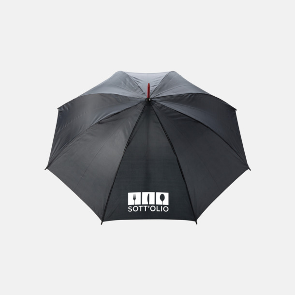 """Med reklamlogo 23"""" stormparaplyer med färgdetaljer - med reklamtryck"""