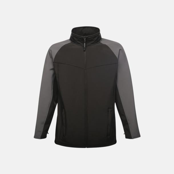 Two-Tone Black/Seal Grey (herr) Soft-shell jackor i herr- & dammodell med reklamtryck