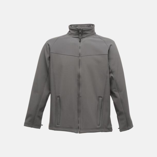Seal Grey/Seal Grey (herr) Soft-shell jackor i herr- & dammodell med reklamtryck
