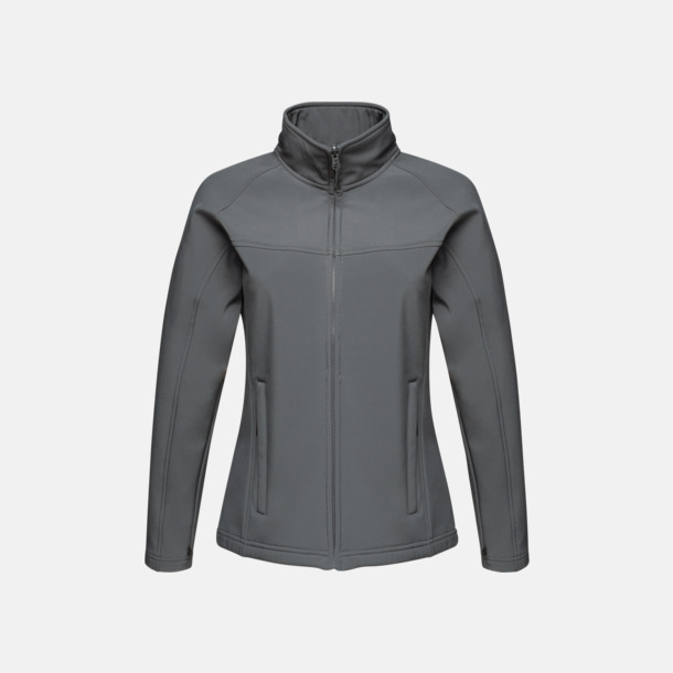 Seal Grey (dam) Soft-shell jackor i herr- & dammodell med reklamtryck
