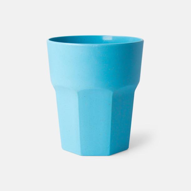 Ljusblå Miljövänliga glas med reklamtryck