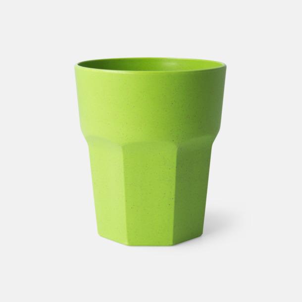Ljusgrön Miljövänliga glas med reklamtryck