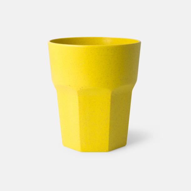Gul Miljövänliga glas med reklamtryck