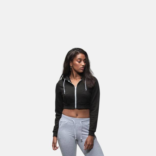 Korta huvtröjor i dammodell med reklamtryck