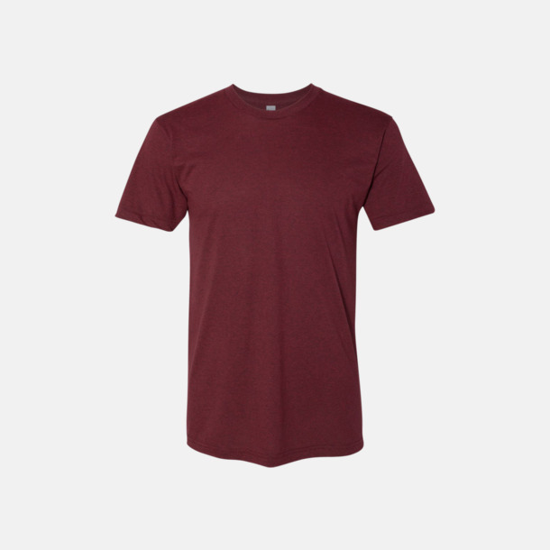 Heather Cranberry Polycotton t-shirts med reklamtryck