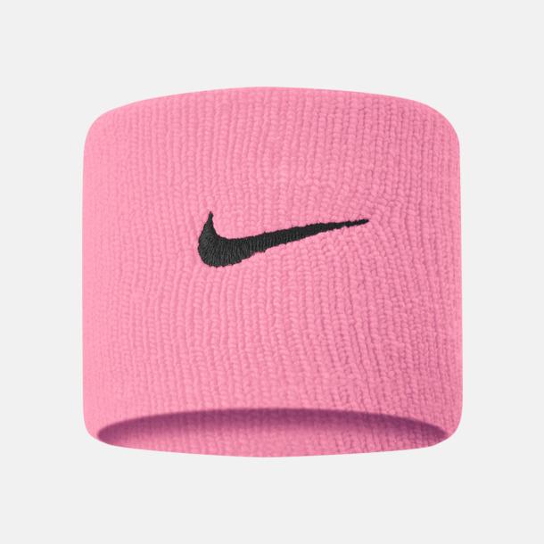 Pink Gaze/Oil Grey Armsvettband från Nike med reklamlogo