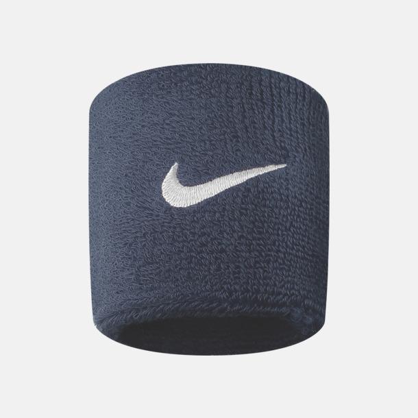 Obsidian/Vit Armsvettband från Nike med reklamlogo