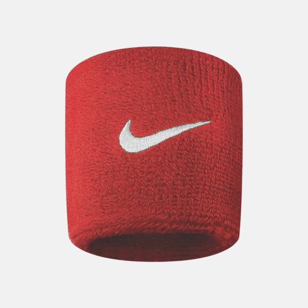 Varsity Red/Vit Armsvettband från Nike med reklamlogo