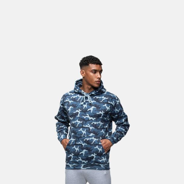 Unisexmodell Kamouflage mönstrade huvtröjor med reklamtryck