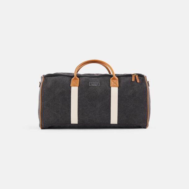 Svart Clifton Suitbag från Vinga of Sweden med reklamtryck