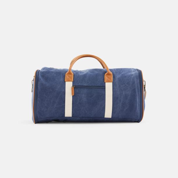 Marinblå Clifton Suitbag från Vinga of Sweden med reklamtryck