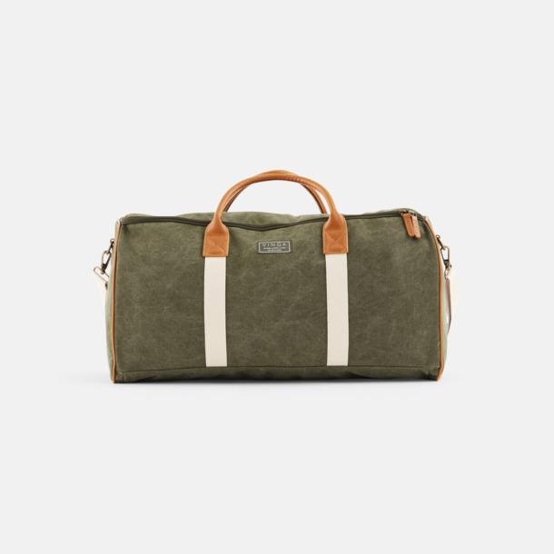 Grön Clifton Suitbag från Vinga of Sweden med reklamtryck